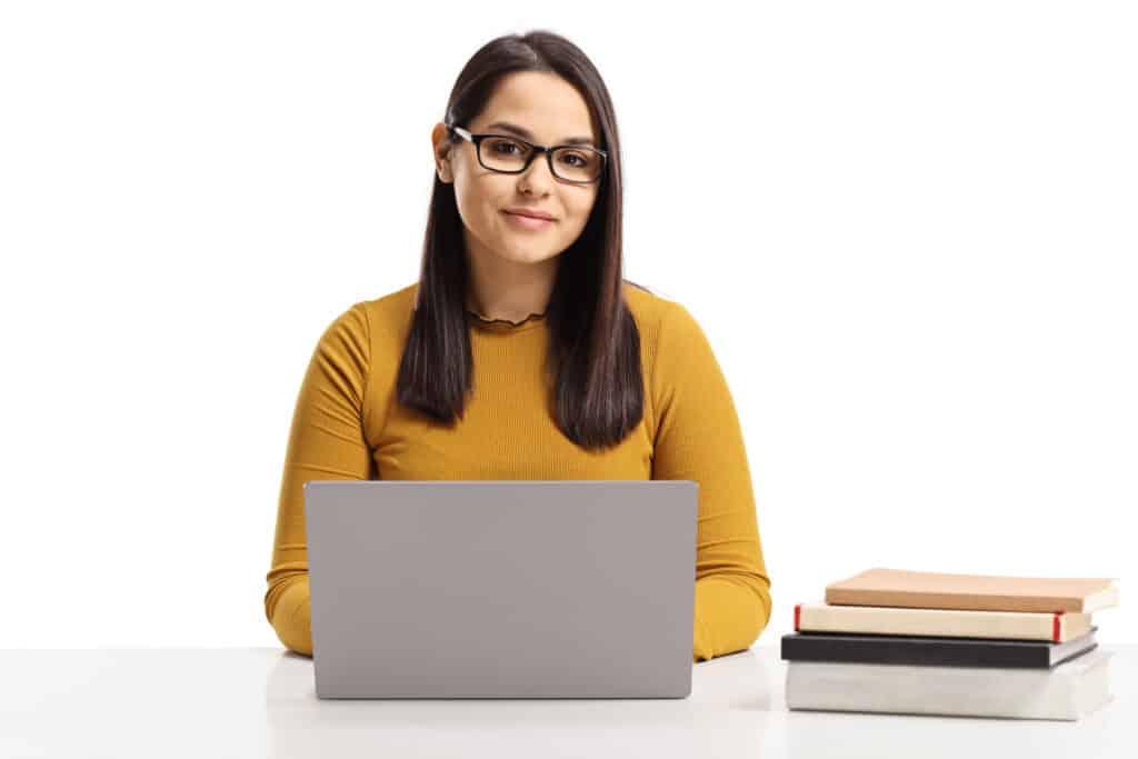Online tutoring student
